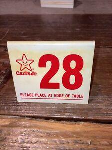 Carl's Jr. # 28 Table Number for Vintage Car Show Dash Display Lowrider