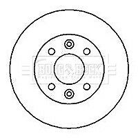 BRAKE DISC FRONT FOR RENAULT R19 (1989-1994)  (PAIR)