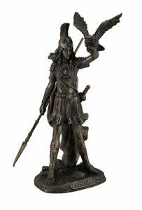 Athena Statue Greek Goddess Of Wisdom And War with Owl Figurine Gift Pallas NEW
