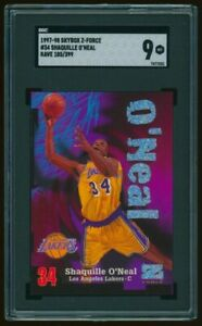 1997-98 Skybox Z-Force Shaquille O'Neal Rave /399 #34 SGC 9 - Rare