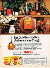 PUBLICITE ADVERTISING 014   1971   MAGGI   les fiches recettes bouillons