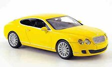 MINICHAMPS Bentley Continental GT, Yellow 1:43 Now Sold Out!