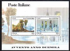 Italia Repubblica 2000 Foglietto Avvento dell'anno 2000 4° Emissione MNH**