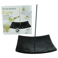 Incense Holder / Burner | Kare | Black | Natural Stone