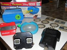 4 Vintage View Master viewers , projector & 9 reels sight seeing  & Snow White