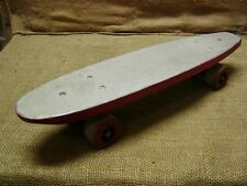 Vintage Wooden Skateboard > Old Antique Toys Scooter Skate Board Skates 6420
