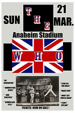 Pete Townshend & The Who at  Anaheim Stadium Concert Poster Circa 1975