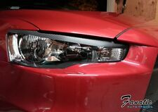 08-17 Lancer EVO Eye lids Carbon Fiber Vinyl Overlays Wrap JDM Head Light PRECUT