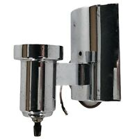 "Art Deco Wall Sconce Light Chrome Rotary Switch 5.5"" Vtg Mid Century Modern"