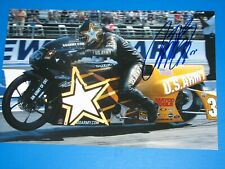 ANTRON BROWN SIGNED 8X12 PHOTO coa NHRA DRAG RACERS