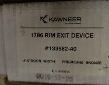 """Kawneer 1786 Concealed rod exit device 133582-410 48"""" door Bronze finish"""