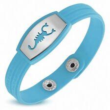 Bracelet homme watch caoutchouc bleu clair scorpion