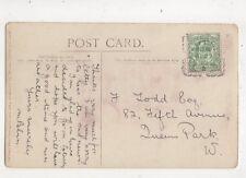 North Kensington W [2] 27 Aug 1910 Squared Circle Postmark 405b