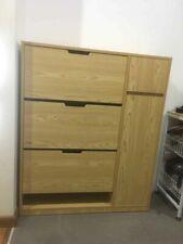 brown multi-purpose household cupboard neatly