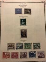 Early Germany Stamps on 12 album pages 1939-1944 Collection