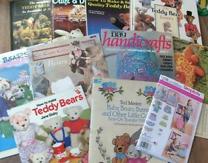 Mixed bulk lot teddy bear toy making collecting books patterns craft decorating