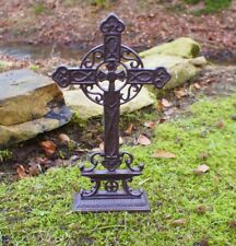 Straßenkreuz Kreuz Friedhof Wegkreuz Grab Grabkreuz Kruzifix Eisenkreuz