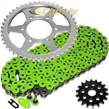 Green O-Ring Drive Chain & Sprockets Kit Fits KAWASAKI ZX1200 Ninja ZX12R 00-05
