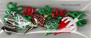 Dress It Up Christmas Ornaments 5 Fun Shank Buttons Crafting Sewing Knit New