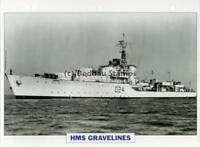 1944 HMS GRAVELINES Battle-Class Destroyer Ship GB Warship Photograph Maxi Card