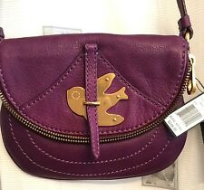 MARC JACOBS PETAL TO THE PETAL POUCHETTE CROSSBODY PURPLE PANSY BAG NW $248 HTF