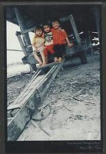 THAILAND POSTCARD CHILDREN & FARM MACHINERY