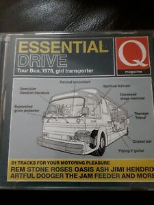 Q Essential Drive Tour Bus CD Album Stone Roses Oasis Ash The Jam Jimi Hendrix