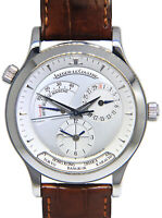 Jaeger LeCoultre Master Control Geographic Steel Mens Watch Box/Papers 142.8.92