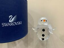 Swarovski Crystal Figurine Larger Snowman Christmas Frosty 250229 In Box