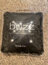 Brookstone Buzz Lumbar Back Massage Pillow Black Travel Bag