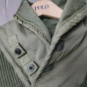 Polo Ralph Lauren Shawl Sweater Green Military XL