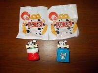 McDonald's Lot of 2 Disney's 101 Dalmatians Toys, 1996, loose with package (A05)