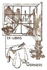 EX-LIBRIS  d'Urbain WERNAERS pour lui-même. Belgique.