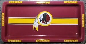 NEW - CERAMIC PARTY PLATTER TRAY NFL WASHINGTON REDSKINS GAME TIME SCULPTED