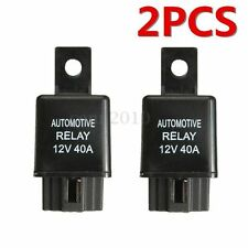 2x 12V 40A 40 AMP Car Auto Automotive Van Boat Bike 4 Pin SPST Alarm Relay US