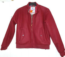 Harrington burgundy Red Wool Jacket Original L BNWT ladies