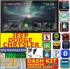 07 & UP CHRYSLER JEEP DODGE KENWOOD NAVIGATION APPLE CARPLAY ANDROID AUTO