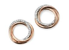 Howards Jewellery 9ct Rose Gold Diamond Open Circle Stud Gold Earrings GE2030