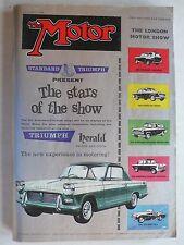 Zeitschrift The Motor (UK) - October 1959 - London Motor Show - Ausstellungsheft