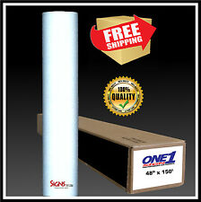 "24"" x 10 ft  WHITE  Reflective Vinyl Adhesive Cutter Sign High Reflectivity"