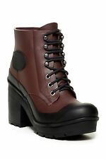 NIB $230 Hunter Original Block Heel Lace Up Rain Boot UK 8 US 10 EU 42