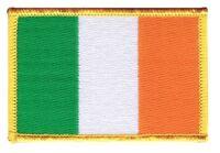 Irland Aufnäher Flaggen Fahnen Patch Aufbügler 8x6cm