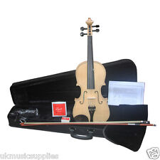 Zest Intermediate Violin Clear Gloss 4/4 with Ebony Bow & Padded Case Package