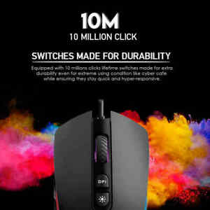 100% New Gaming PC Mouse USB RGB Light Effect