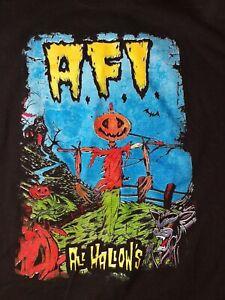 Afi Band Tee All Hallows Graphic Shirt Mens Medium