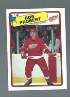 1988 vintage BOB PROBERT detroit red wings CARD           *134