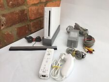 Nintendo WII CONSOLE Blanche/fonctionnel/Free UK POST/INC Cadeau Gratuit Look