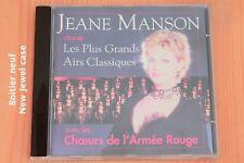 Jeane Manson - Choeurs Armée Rouge  Grands Airs Classiques - 14T - CD
