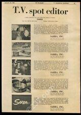 1956 Sarra TV commercial production spots photo trade print ad