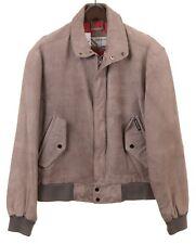 Members Only Gray Genuine Leather Full Zip Flight Bomber Jacket Coat 44